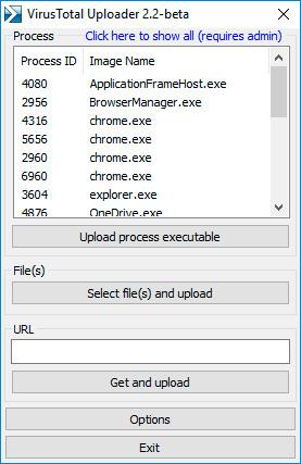 Скриншот VirusTotal Windows Uploader